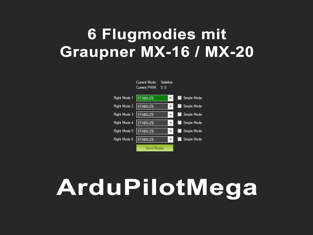 APM - 6 Flight Modes mit Graupner MX-16/MX-20 ツ | FPV-TEAM.DE